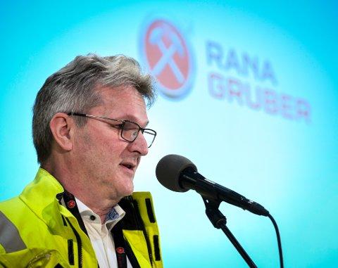 - Selv om vi har fått en utvinningsrett, betyr det ikke vi kommer til å starte opp mer gruvedrift. Vi ville hindre at andre søker på sånne rettigheter i vår bakgård, sier  administrerende direktør Gunnar Moe i Rana Gruber AS.