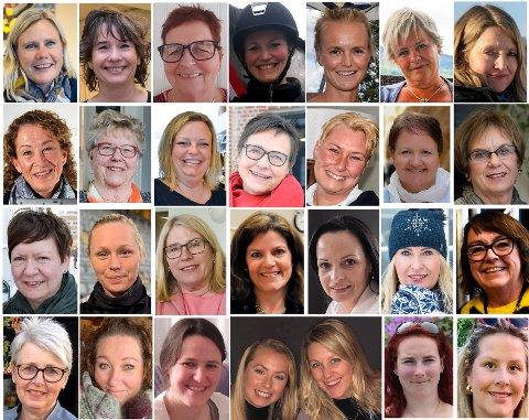 DE NOMINERTE: Disse 28 kvinnene er kandidatene til Årets kvinnelige forbilde 2019. De er nominert av folket i Ringeriksregionen.