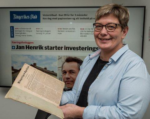 175 år: Redaktør Sissel Skjervum Bjerkehagen vil blruke jubileet til å knytte leserne enda tettere til avisen.