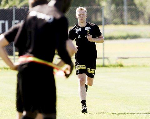 Tilbake for fullt: Erling Knudton har trent for fullt igjen og er klar for kamp.