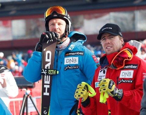 Aksel Lund Svindal og Alexander Aamodt Kilde. Foto: Terje Bendiksby / NTB scanpix