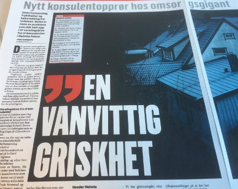 SA FRA: Flere konsulenter i Heimta Fokus forteller i Dagbladet blant annet om arbeidsforhold, underbemanning og fryktkultur.
