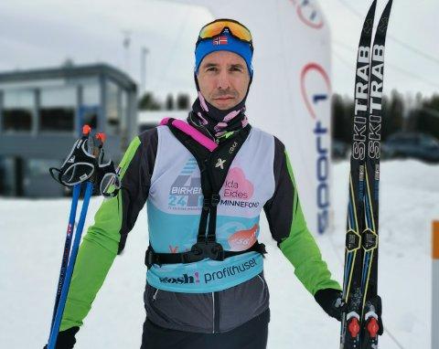 I MÅL: Jan Kristian Haugnæss la denne helgen bak seg en 216 kilometer lang skitur.
