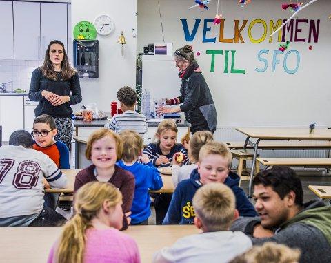 Kan bli dyrere: Bildet er fra SFO på Cicignon skole. Tilbudet kan bli dyrere for alle familier med SFO-barn i hele kommunen.