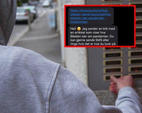 FRA DØR TIL TELEFON: Jehovas vitner er kjent for å ringe på dørene til folk. Det har pandemien gjort slutt på.