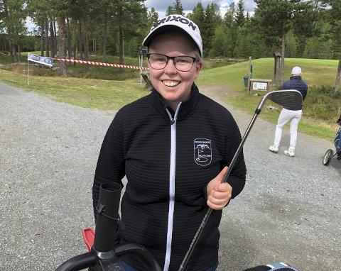 Godt selskap: 21 år gamle Magnea Gudmundsdottir var den eneste lokale kvinnen som representerte Kongsvingers       Golfklubb denne uka. I godt selskap med 160 av landets beste golfere viste hun seg fram på hjemmebane, da klubben arrangerte sin største turnering noensinne.