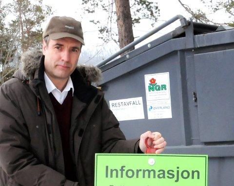 150 tonn med plast: Pål Sverre Andgard, Dovre, er daglig leder i Nord-Gudbrandsdal Renovasjonsselskap.