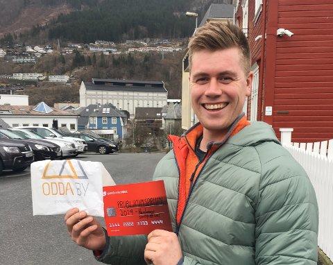 Lars Olav Tverberg er vinner av Hardanger spillfestival sin publikumspris for 2019.