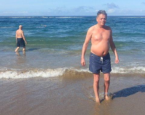 IKKE AUSTERTANA: Dette bildet er ikke tatt i Austertana der Fred Johnsen bor, men på Lanzarote. Derimot håper Johnsen at det skal være mulig å få til så fin strand også på hjemmebane, og det som følge av et mudringsprosjekt.