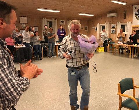 FRIVILLIGHETSPRIS: Jan Rune Fjeld fikk årets frivillighetspris for sin rolle som leder både i byggingen av Søndrehallen og ombygging av klubbhuset i fjor høst.
