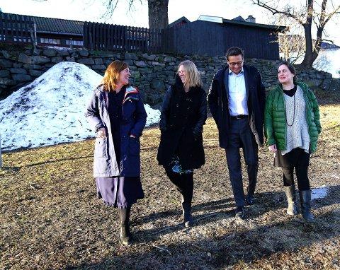 SATSER PÅ DE UNGE: Isa Katharina Gericke, Ida Habbestad, Hild Borchgrevink og Frank Havrøy samarbeider tett med musikklinja på Kongsberg videregående skole.
