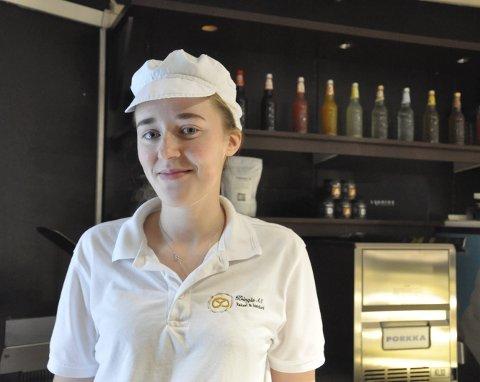 Lærling: Nathalie Henriksen (20) var en av lærlingene som var med på Lærlingeuka i Narvik forrige helg. Hun forteller at det var en spennende og lærerik opplevelse, og at hun har lyst til å bli konditor.