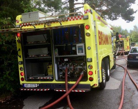 BRANN: Lørdag vil det bli en del brannbiler i Råde. Nærmere bestemt i Nedre Hagavei 3.