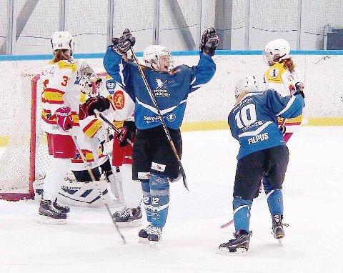 GRUNN TIL Å JUBLE: Julia Sundquist har all grunn til å juble, for hun skal på kandidatsamling for landslagets U16-spillere. Det kan ta henne videre til ungdoms-OL i 2016.
