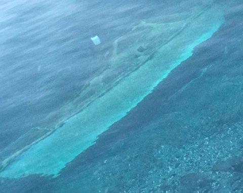 PÅ BUNNEN: Slik ligger båten nå ved marinebasen Olavsvern.