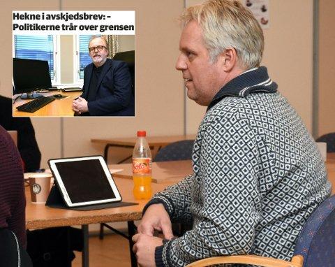 BEKYMRET: Geir Helge Frøslid (H) mener en må ta brevet fra avgått direktør Kai Hekne på alvor og få en uavhengig ekstern enhet til å se på påstanden, for å bygge oppå igjen tillit.