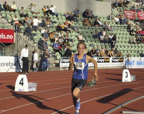Finale: Magnus Bentdal Ingvaldsen i finalen på 400 meter.