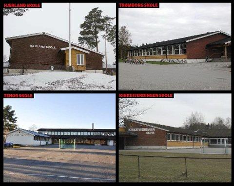 Lever farlig: Grendeskolene i Eidsberg har en uviss framtid i møte. Et konsulentselskap har anbefalt å legge ned alle sammen. Men trolig vil det ta flere år før saken er avgjort.