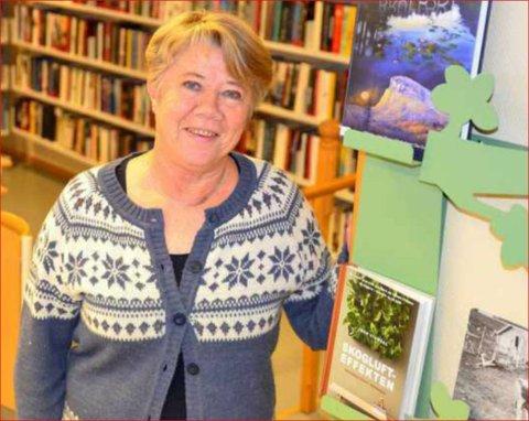 Avsluttar: Etter over 30 år ved biblioteket går Åse Østgård Hagen over i pensjonistane sine rekker 1. juni.