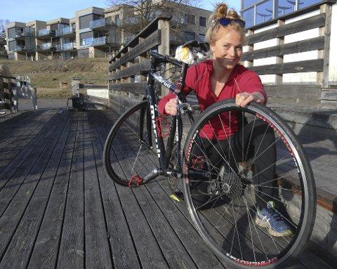 STUDENT: Jenny Veddeng sikret seg en landeveissykkel som kommer godt med i Oslo.