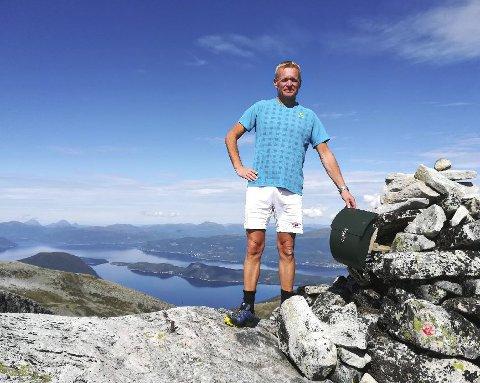 En ekte Kvass-trimmer: I år gikk Roar Røkkum alle tolv trimpostene på en dag, inkludert Smisetnebba hvor dette bildet er tatt. Arkivfoto