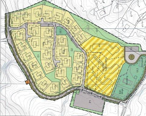 HYTTER OG BLOKKER: Utbygger er utålmodig og vil begynne arbeide med å utvide hyttefeltet på Østebøneset. I dette området er det opprinnelig tenkt rundt 60 nye fritidsboliger, hvorav omtrent halvparten er frittstående hytter.