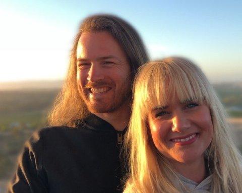 Julie Strømsvåg og kjæresten Bjørn Rognhaug.