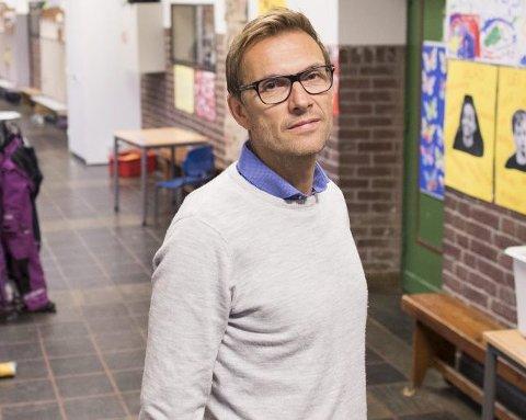 Rune Monsen ved Fridalen skole.