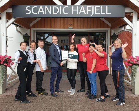 Scandic Hafjell er i september kåret til månedens bedrift av NHO Innlandet.