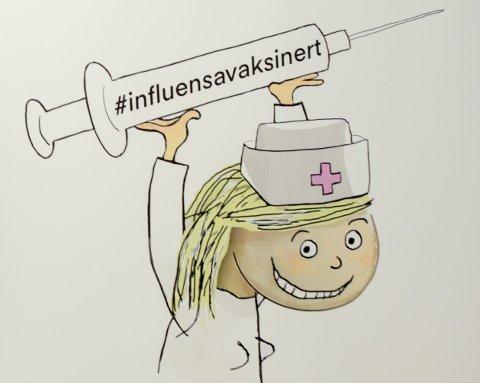 Slik markedsførte FHI fjorårets kampanje for å få folk til å ta influensavaksinen.