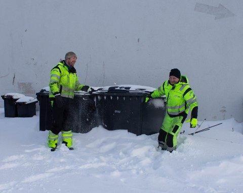 KJEMPER: Frode Olsen og Anders Heggelund måtte la disse dunkene stå.