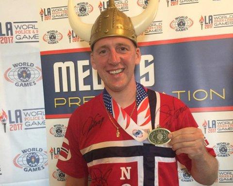 BRONSE: Øystein Kjørstad fikk bronse i crosskonkurransen under World Police and Fire Games i USA på tirsdag.