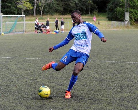 NOK EN INNBYTTER: Matarr Kah scoret kampens siste mål og økte til 4-1.