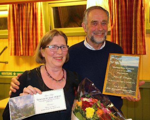 Årsmøtet valgte Helga Gunnarsdóttir til ØVs første kvinnelige leder, mens Johan Ellingsen ble forfremmet fra leder til æresmedlem. Foto: Steinar Saghaug.