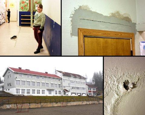 MODEN FOR RENOVERING: Torpa barne- og ungdomsskole skal etter planen totalrenoveres.
