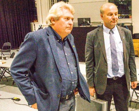 VIL HA EKSTRAORDINÆRT MØTE: Hallstein Bast (MDG) og Olaf Holm (KrF).