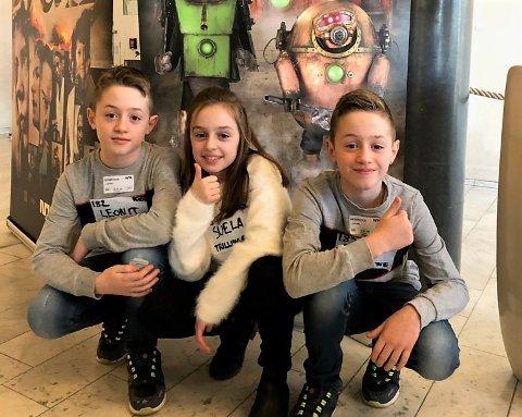 TRILLINGER: 9-åringene Leonit, Suela og Leon Ramosaj fra Hole fikk drømmen oppfylt og kom på audition til det populære NRK-programmet Labyrint.