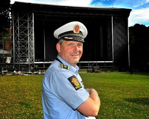 SIKKERHET: Politistasjonssjef Tommy Brøske  forventer mye folk i Hafslundparken nå i helgen, og politiet vil prioritere sikkerheten.