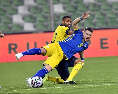 Flamur Kastrati var en av fem eliteseriespillere som startet for Kosovo mot Sverige.