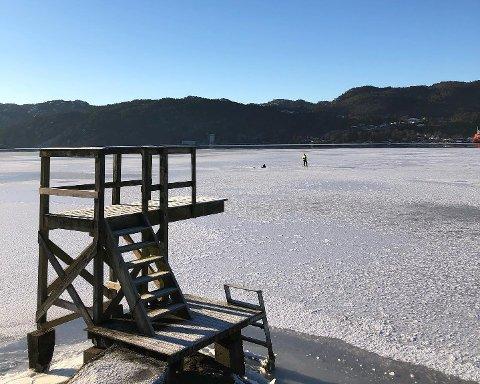 VINTERIDYLL: Det har vært et flott vintervær i Flekkefjord den siste uken, men nå varsles det om et skifte og et mildere vær på vei.
