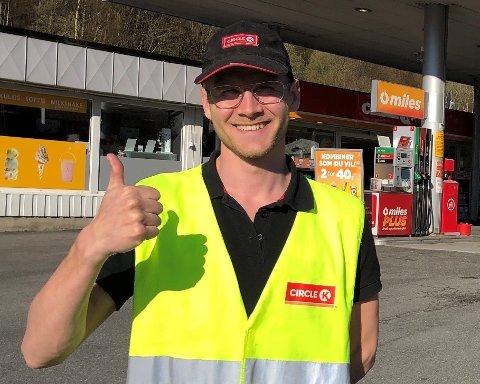 LEDERTALENT. Mattias Høiland har gjort lynkarriere i Circle K etter å ha fullført selskapets talentprogram.