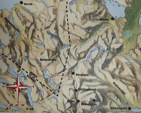 Her er ruten de gikk i 1883.