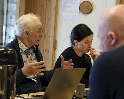 Bekymret: Heidi Kalvåg uttrykte bekymring for barnevernet i Tysfjord i siste møte i fellesnemnda for nye Hamarøy kommune. Både hun og Filip Mikkelsen tok også opp problematikken rundt oppfølgningen av Jasska/Trygg-prosjektet. Foto: Øyvind A. Olsen