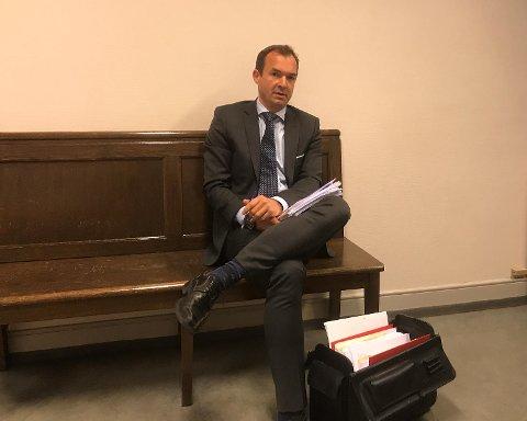 Erik Johan Mjelde, forsvarer for drapssiktet ektemann (48) i Åsane.
