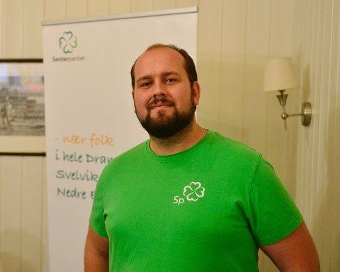 GRØNN VIND: Senterpartiet fosser frem sammen med Miljøpartiet de grønne. Leder av Nye Drammen SP har all grunn til å smile i skjegget.