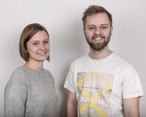 Cecilie Brendehaug Rysjedal og Ivar Bruvik Sætre utgjer Firda UNG redaksjonen i Firda.