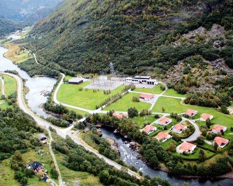 Store verdier: Borgund kraftverk i Lærdal eies av Østfold Energi, som igjen eies 50 prosent av Østfold fylkeskommune. (Arkivfoto: Fredrik Norland)