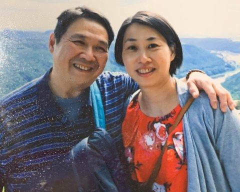 PÅ FERIE: Eric og Pou I. på ferie i juni 2018. Mindre enn fire måneder senere døde Eric brått og uventet.