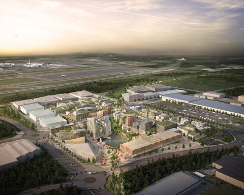 Ny by: Oslo Airport City slik den kan bli.