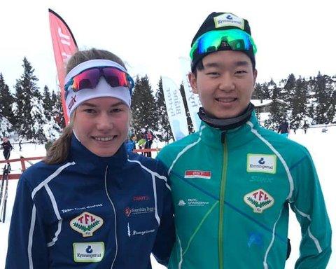 GODE: Martine Svendsby og Petter Stokkeland imponerte under Romjulsrennet på Sjusjøen.